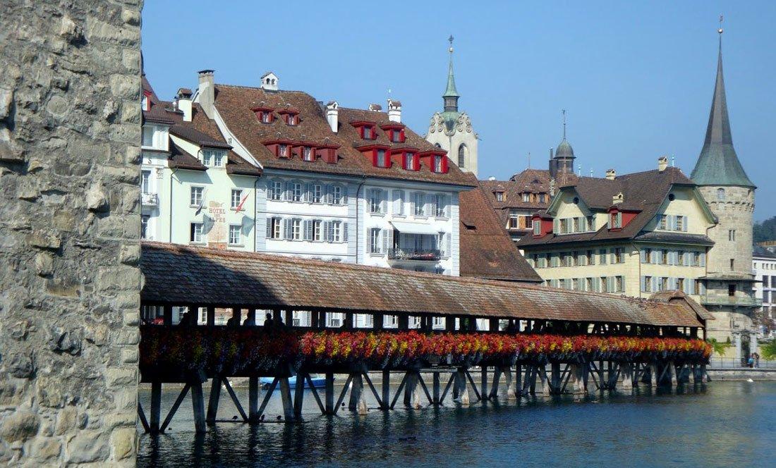 Lucerne Switzerland Chapel Bridge