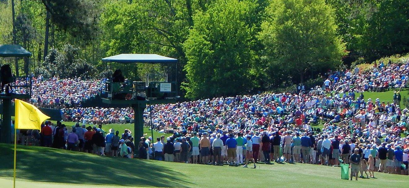 Masters golf tournament: Fans pack the Amen corner