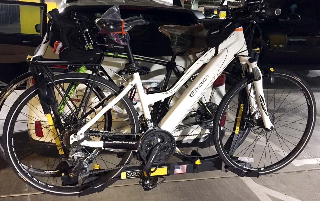 Transport electric bicycle, ebike, ebike rack
