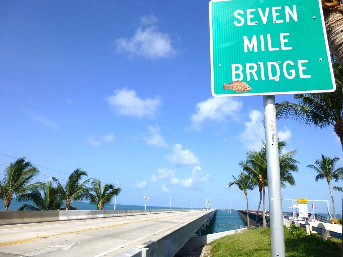 Bike tour Florida Keys Seven Mile Bridge