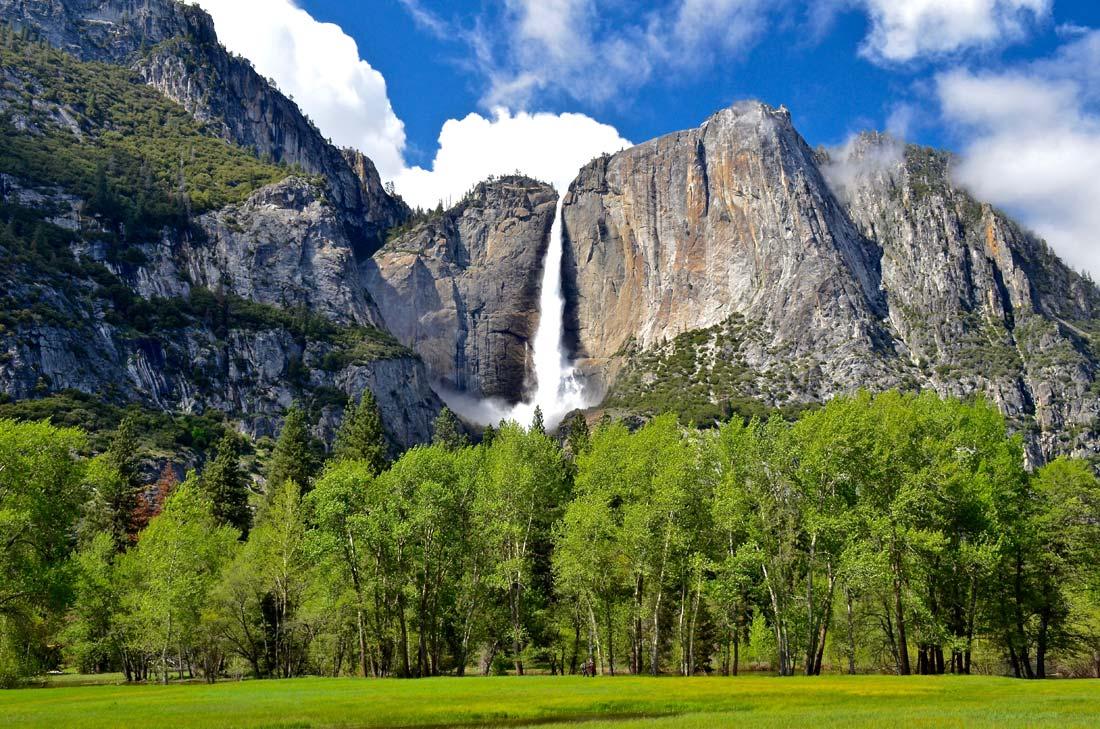 Yosemite Falls during huge spring thaw