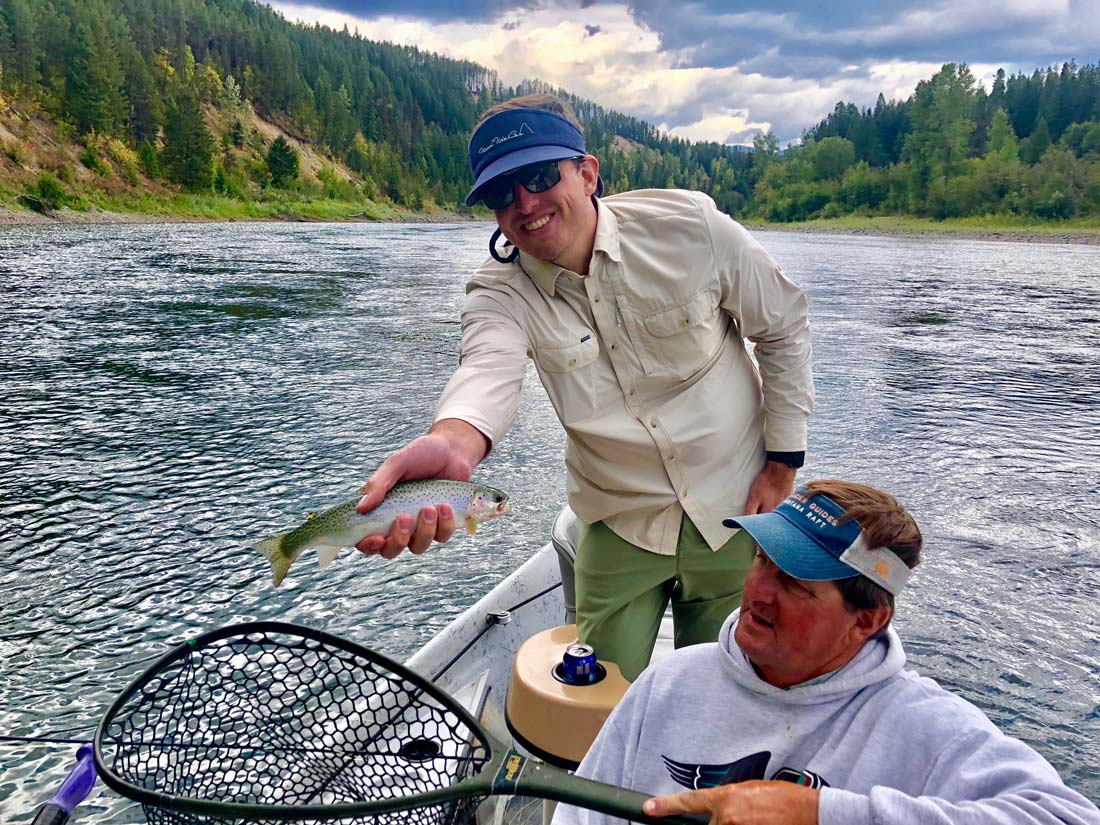 Flathead River trout fly fishing