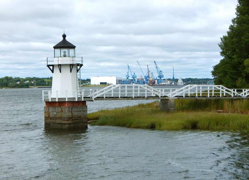 Lighthouse on our Kennebec river tour near Bath, Maine.