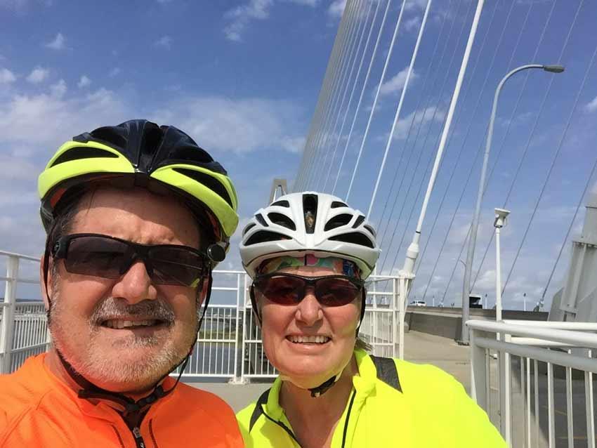 Bike ride historic Charleston Cooper River Bridge