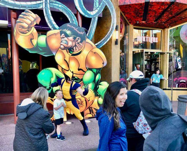 Universal Studios Florida Marvel Wolverine character