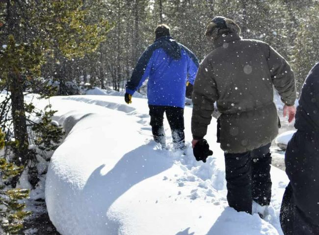 snow winter best hiking united states yellowstone