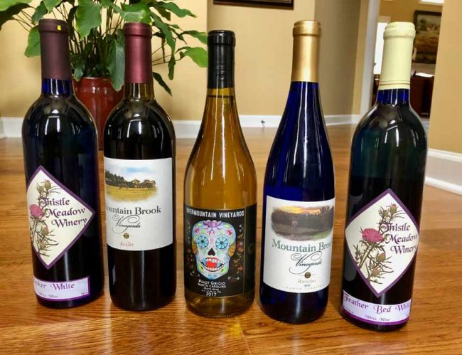 North Carolina now boasts about 200 wineries.