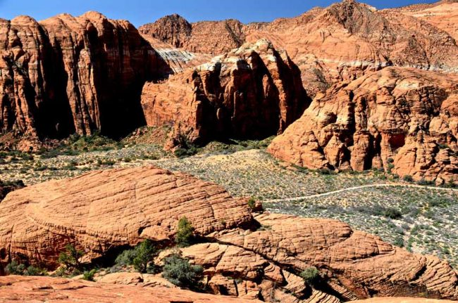 Snow Canyon State Park is located near St. George.