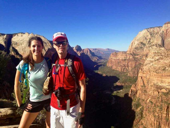 Hiking to Angels Landing requires caution but the reward is oh-so worth it.