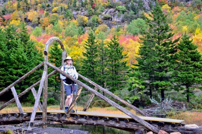 Even average trails in Acadia National Park are spectacular in fall.