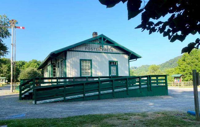 Historic Foster Falls train station was built in the 1800s.