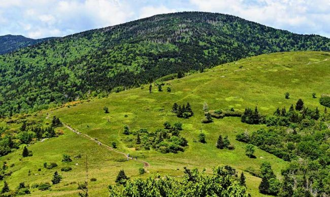 Roan Mountain is a series of five summits.