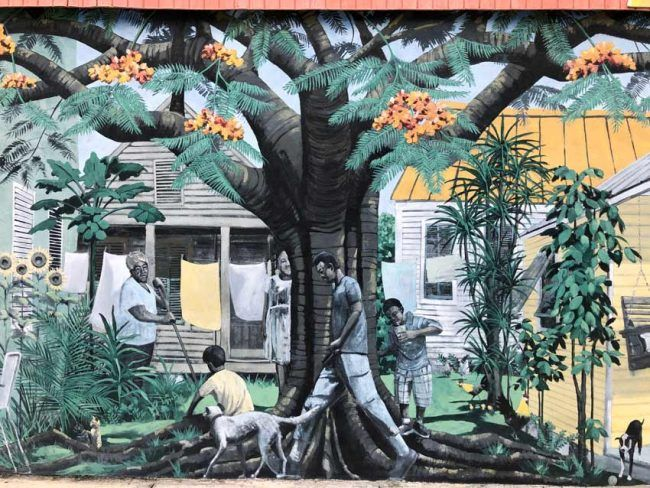 art painted outdoor wall tour key west