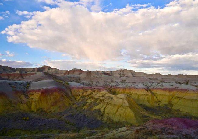 Badlands National Park Yellow Mounds