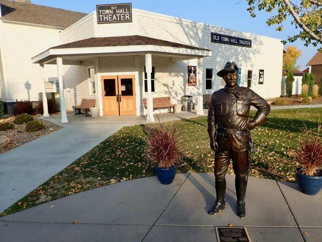 Theodore Roosevelt's impersonator headlines Medora's Old Town Hall Theater.